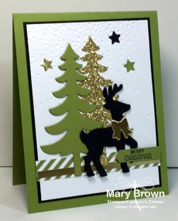 green black gold christmas card stampercamper s corner